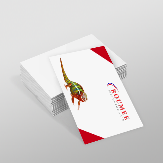 Visitenkarten Flyer Handzettel Folder Plakate Briefpapier